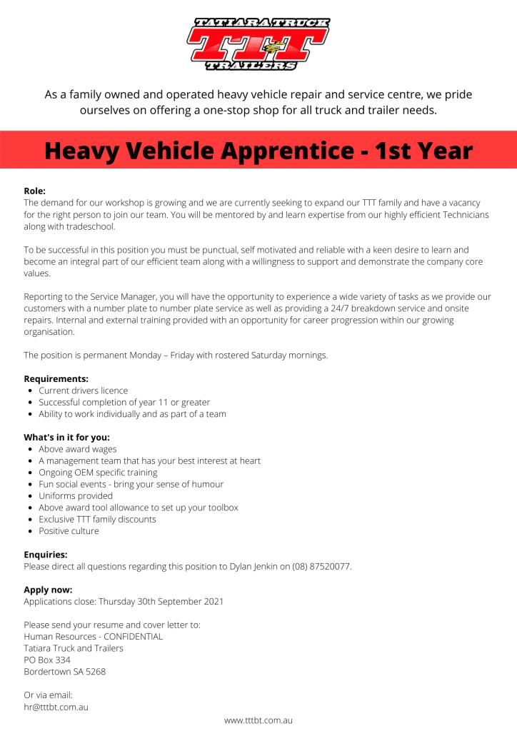 Heavy Vehicle Apprentice